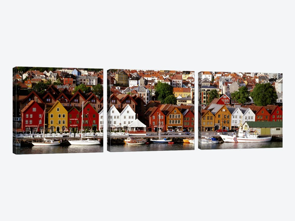 Bergen Norway by Panoramic Images 3-piece Canvas Wall Art