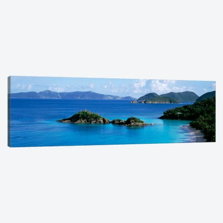 US Virgin Islands, St. John, Trunk Bay, Rock formation in the sea Canvas Print #PIM706} by Panoramic Images Canvas Wall Art