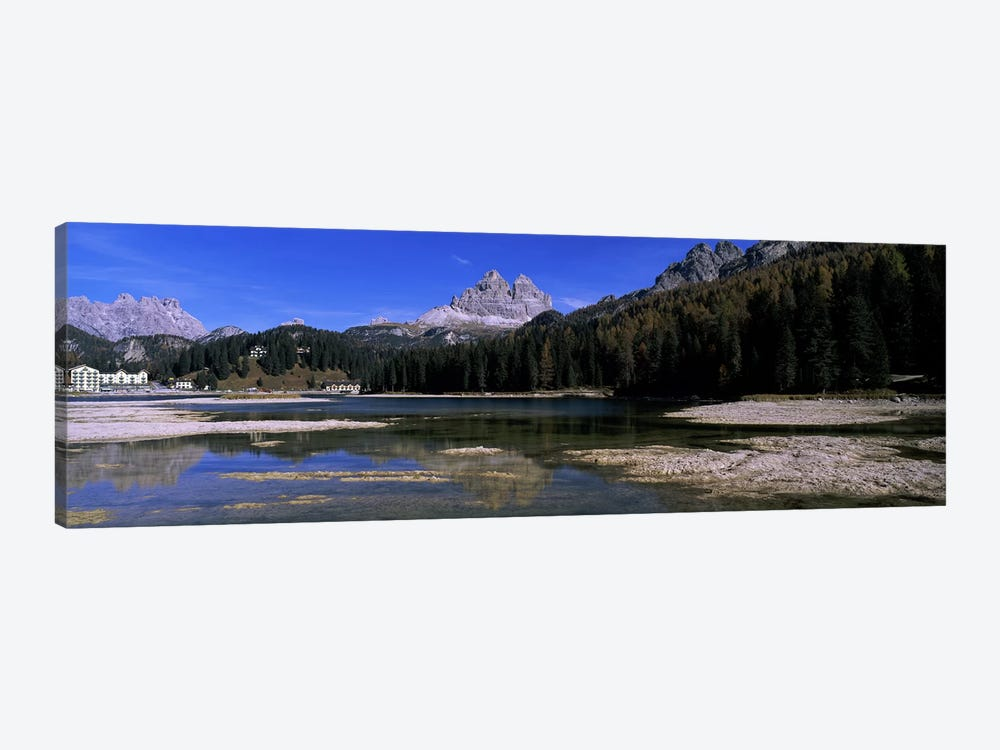 Tre Cime di Lavaredo As Seen From Lake Misurina, Cadore, Belluno Province, Veneto, Italy by Panoramic Images 1-piece Art Print