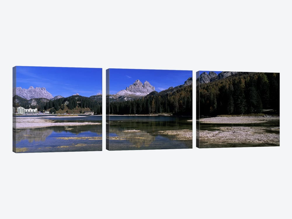 Tre Cime di Lavaredo As Seen From Lake Misurina, Cadore, Belluno Province, Veneto, Italy by Panoramic Images 3-piece Canvas Art Print