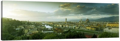 Aerial View Of Florence From Piazzale Michelangelo, Tuscany, Italy Canvas Art Print