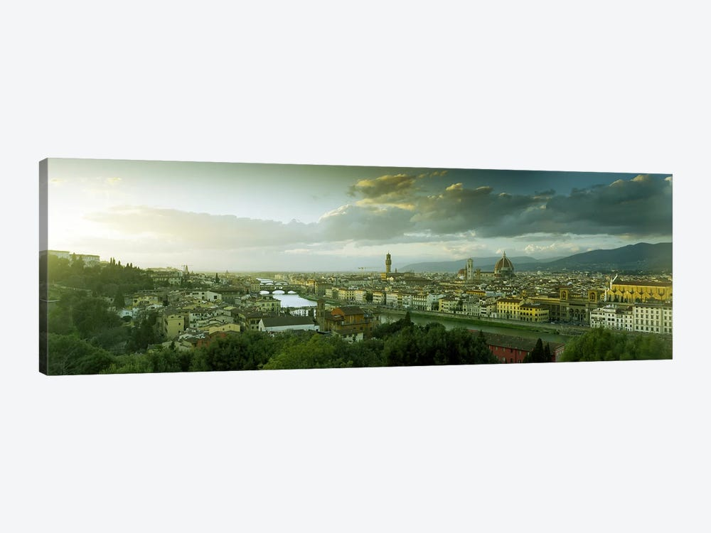 Aerial View Of Florence From Piazzale Michelangelo, Tuscany, Italy by Panoramic Images 1-piece Canvas Artwork
