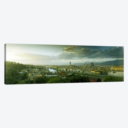 Aerial View Of Florence From Piazzale Michelangelo, Tuscany, Italy Canvas Print #PIM7091} by Panoramic Images Canvas Wall Art
