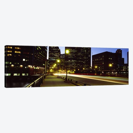 Traffic on a bridge in a city, Northern Avenue Bridge, Boston, Suffolk County, Massachusetts, USA Canvas Print #PIM7095} by Panoramic Images Art Print