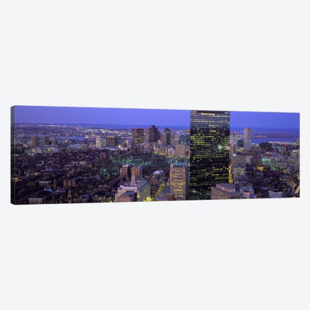 Aerial view of a city, Boston, Suffolk County, Massachusetts, USA Canvas Print #PIM7096} by Panoramic Images Canvas Print