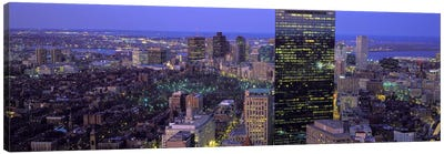 Aerial view of a city, Boston, Suffolk County, Massachusetts, USA Canvas Art Print