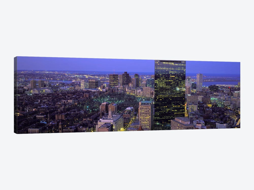 Aerial view of a city, Boston, Suffolk County, Massachusetts, USA by Panoramic Images 1-piece Canvas Art Print