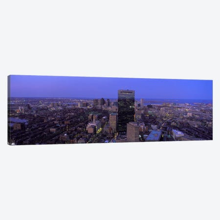 Aerial view of a city, Boston, Suffolk County, Massachusetts, USA #2 Canvas Print #PIM7097} by Panoramic Images Canvas Art Print