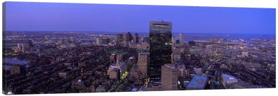 Aerial view of a city, Boston, Suffolk County, Massachusetts, USA #2 Canvas Art Print