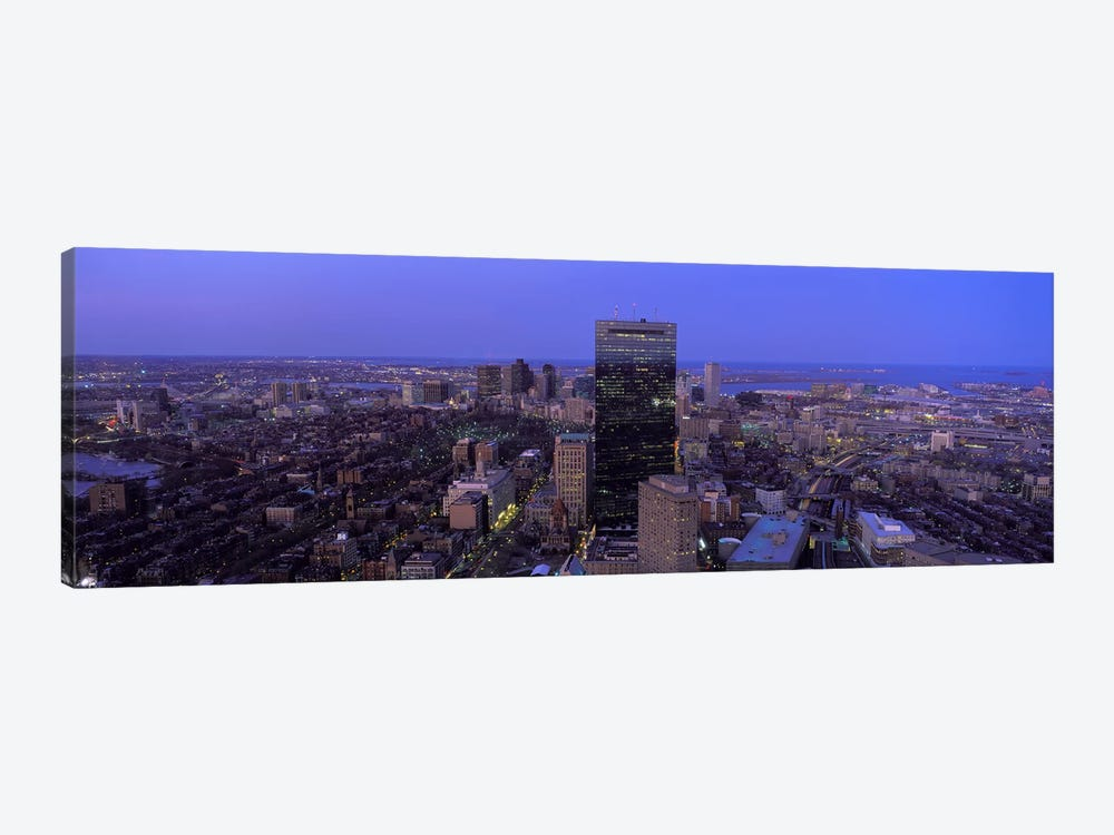 Aerial view of a city, Boston, Suffolk County, Massachusetts, USA #2 by Panoramic Images 1-piece Canvas Art