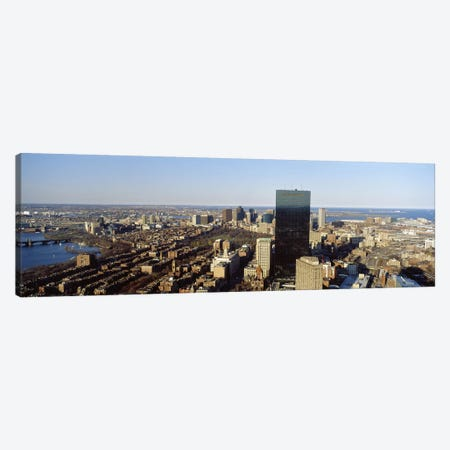 Aerial view of a city, Boston, Suffolk County, Massachusetts, USA #3 Canvas Print #PIM7098} by Panoramic Images Canvas Art