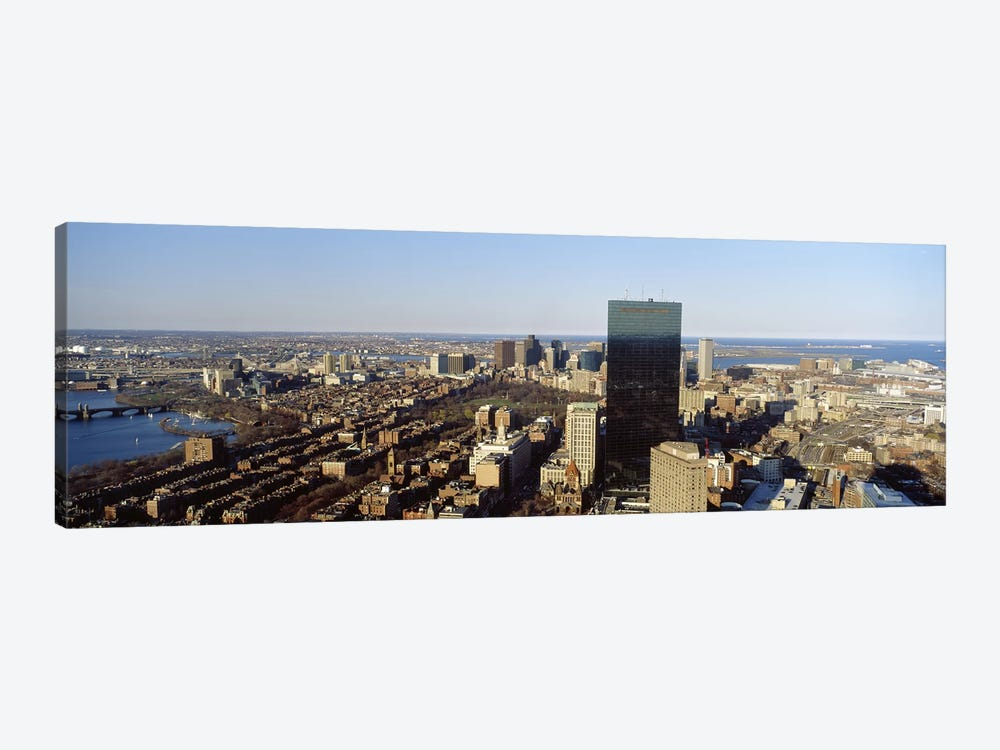 Aerial view of a city, Boston, Suffolk County, Massachusetts, USA #3 by Panoramic Images 1-piece Canvas Print