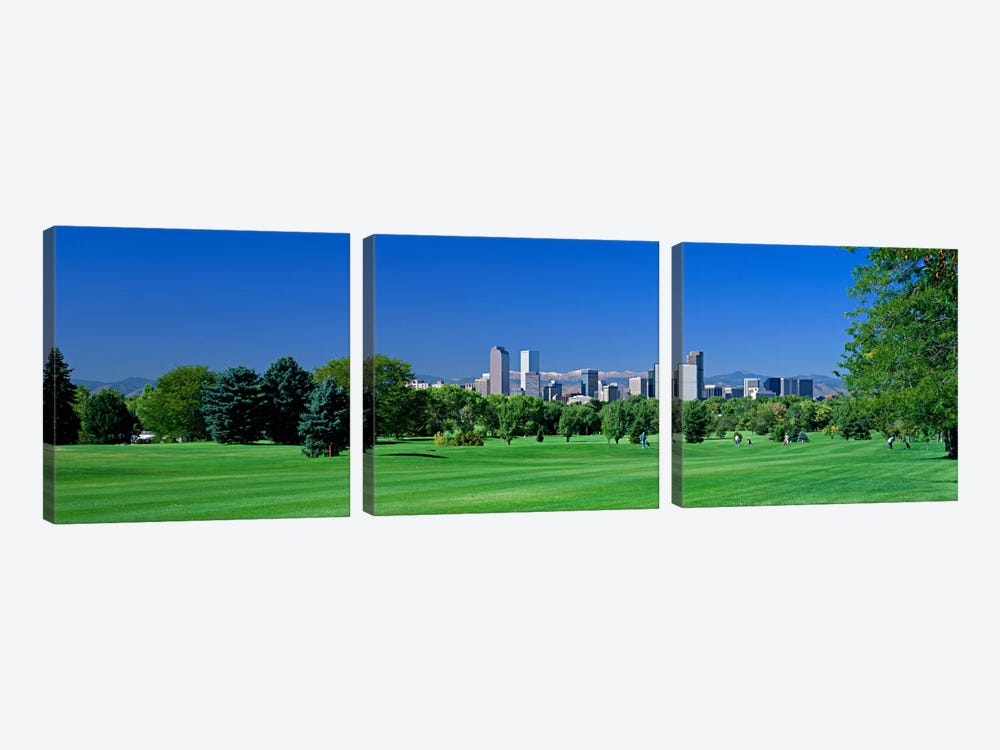 Skyline In Daylight, Denver, Colorado, USA by Panoramic Images 3-piece Art Print