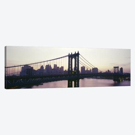 Bridge across a river, Manhattan Bridge, East River, Manhattan, New York City, New York State, USA Canvas Print #PIM7100} by Panoramic Images Canvas Wall Art