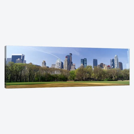 High-Angle View Of Architecture Along Central Park South, Midtown, Manhattan, New York City, New York, USA Canvas Print #PIM7101} by Panoramic Images Canvas Artwork