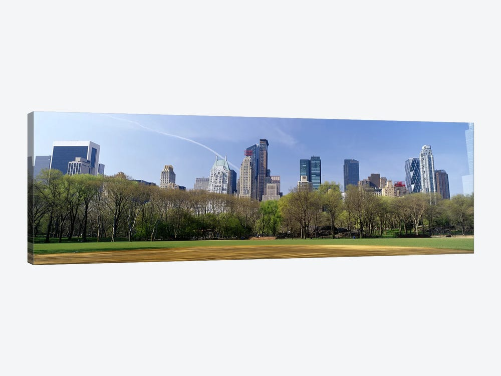 High-Angle View Of Architecture Along Central Park South, Midtown, Manhattan, New York City, New York, USA by Panoramic Images 1-piece Canvas Artwork