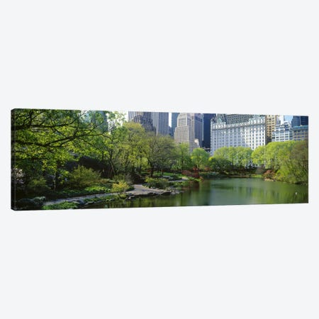 Pond in a park, Central Park South, Central Park, Manhattan, New York City, New York State, USA Canvas Print #PIM7102} by Panoramic Images Canvas Artwork