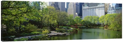 Pond in a park, Central Park South, Central Park, Manhattan, New York City, New York State, USA Canvas Print #PIM7102