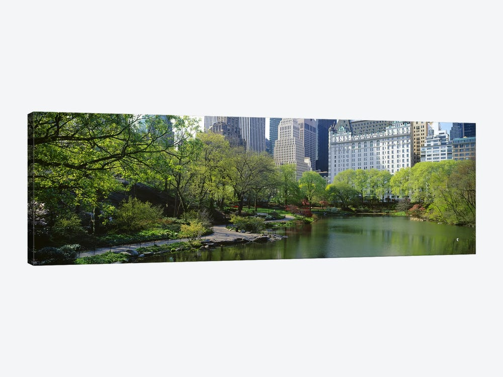 Pond in a park, Central Park South, Central Park, Manhattan, New York City, New York State, USA by Panoramic Images 1-piece Canvas Print