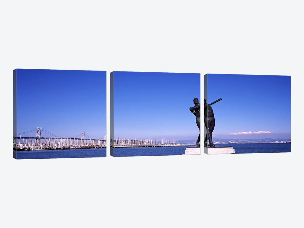 San Francisco Bay, Bay Bridge, San Francisco, California, USA by Panoramic Images 3-piece Canvas Art Print