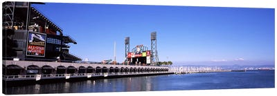 Baseball park at the waterfront, AT&T Park, San Francisco, California, USA Canvas Art Print