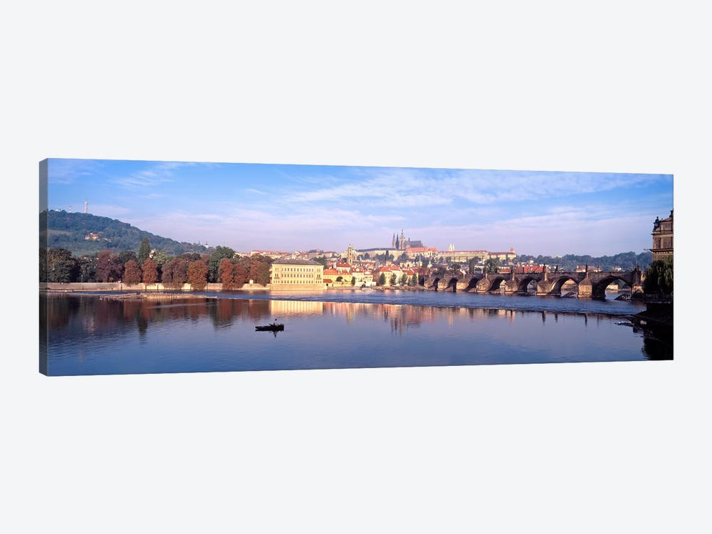 Arch bridge across a river, Charles Bridge, Hradcany Castle, St. Vitus Cathedral, Prague, Czech Republic #2 by Panoramic Images 1-piece Canvas Art