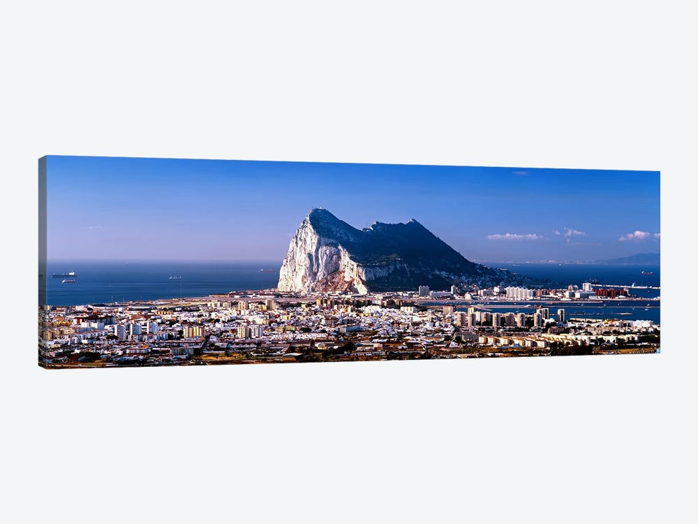Rock Of Gibraltar With La Linea de la Concepcion In The Foreground, Iberian Peninsula by Panoramic Images 1-piece Canvas Print