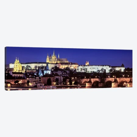 Arch bridge across a river, Charles Bridge, Hradcany Castle, St. Vitus Cathedral, Prague, Czech Republic #3 Canvas Print #PIM7118} by Panoramic Images Art Print