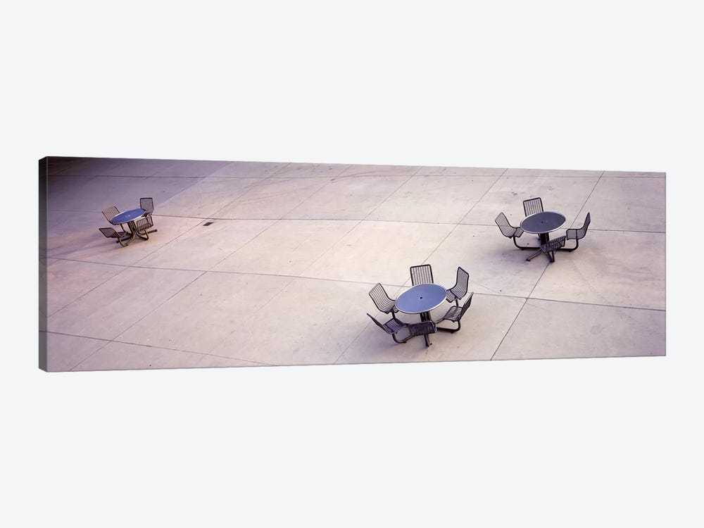 High angle view of tables & chairs in a parkSan Jose, California, USA by Panoramic Images 1-piece Art Print