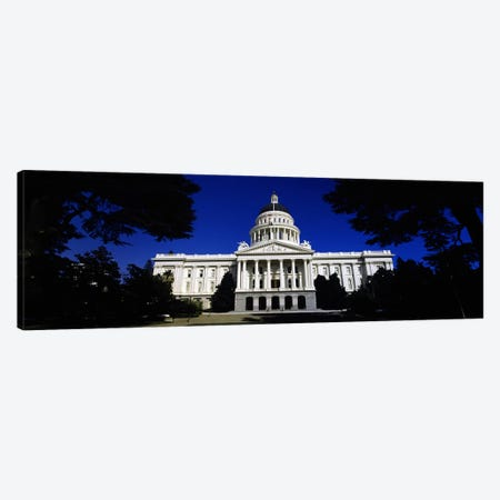 Facade of a government buildingCalifornia State Capitol Building, Sacramento, California, USA Canvas Print #PIM7120} by Panoramic Images Canvas Wall Art