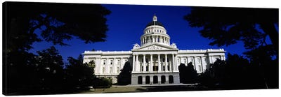 Facade of a government buildingCalifornia State Capitol Building, Sacramento, California, USA Canvas Art Print