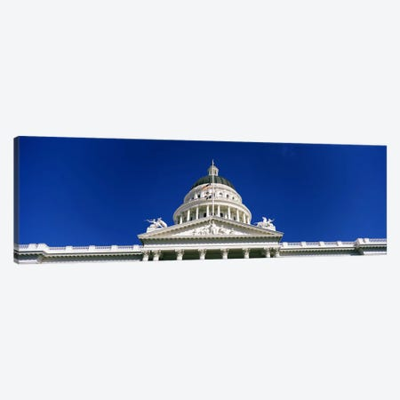 Low angle view of a government buildingCalifornia State Capitol Building, Sacramento, California, USA Canvas Print #PIM7121} by Panoramic Images Canvas Artwork