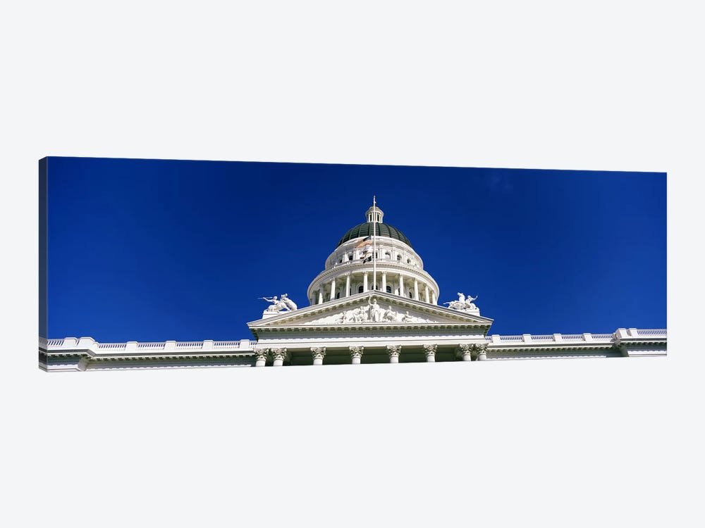 Low angle view of a government buildingCalifornia State Capitol Building, Sacramento, California, USA by Panoramic Images 1-piece Canvas Artwork