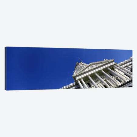 Low angle view of a government buildingCalifornia State Capitol Building, Sacramento, California, USA Canvas Print #PIM7122} by Panoramic Images Canvas Wall Art