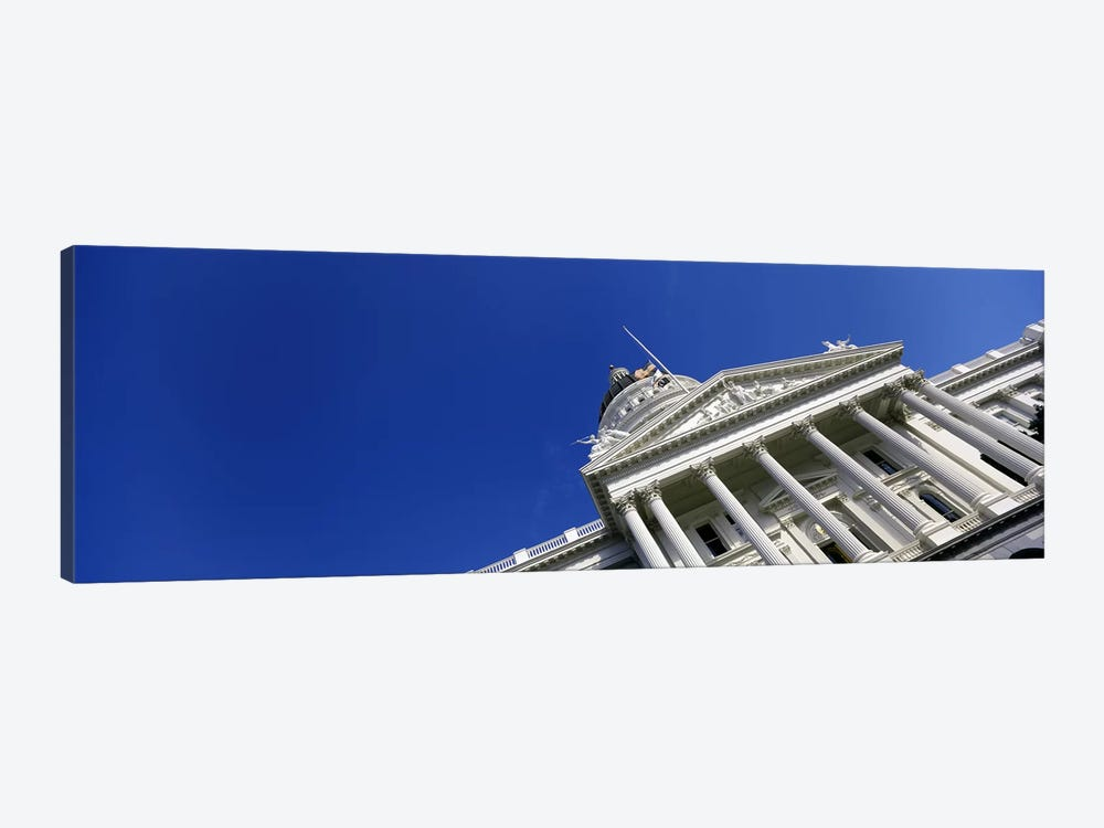 Low angle view of a government buildingCalifornia State Capitol Building, Sacramento, California, USA by Panoramic Images 1-piece Canvas Art Print