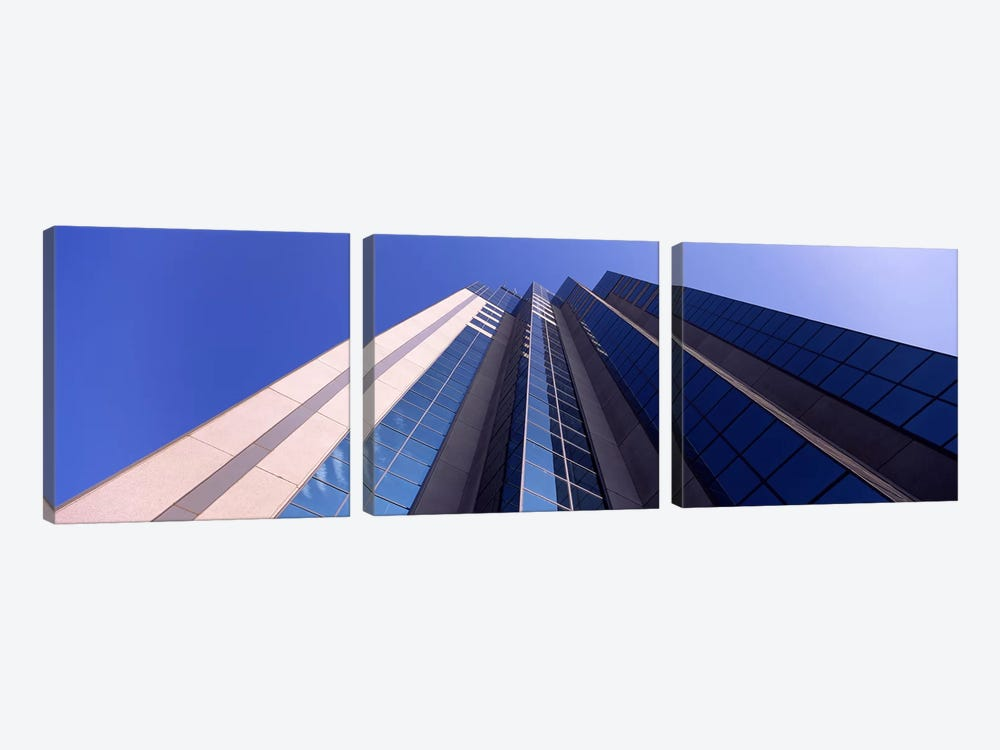 Low angle view of an office buildingSacramento, California, USA 3-piece Art Print
