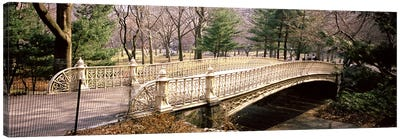 Arch bridge in a parkCentral Park, Manhattan, New York City, New York State, USA Canvas Art Print