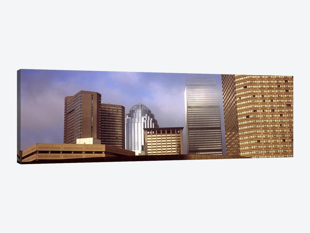 Skyscrapers in a cityBoston, Suffolk County, Massachusetts, USA by Panoramic Images 1-piece Canvas Wall Art