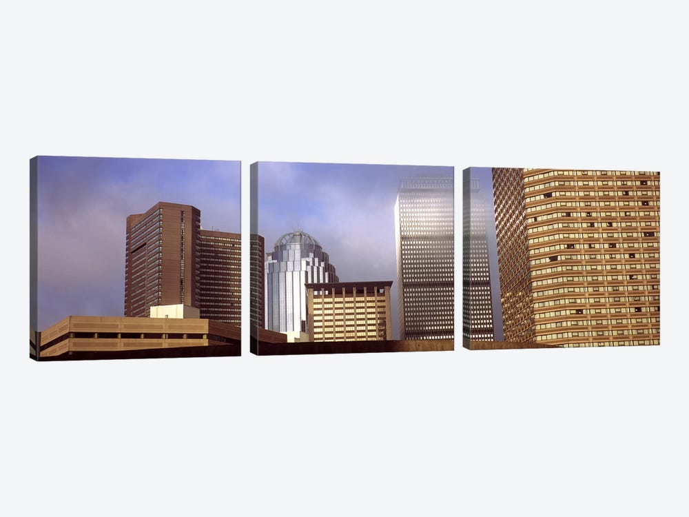 Skyscrapers in a cityBoston, Suffolk County, Massachusetts, USA by Panoramic Images 3-piece Canvas Wall Art