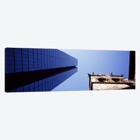 Low angle view of the Hancock Building & Trinity ChurchBoston, Suffolk County, Massachusetts, USA Canvas Print #PIM7128} by Panoramic Images Canvas Wall Art