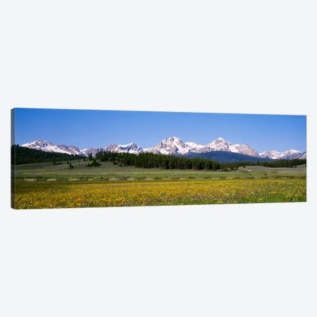 Sawtooth Range, Sawtooth Wilderness, Sawtooth National Recreation Area, Idaho, USA Canvas Print #PIM712} by Panoramic Images Canvas Wall Art