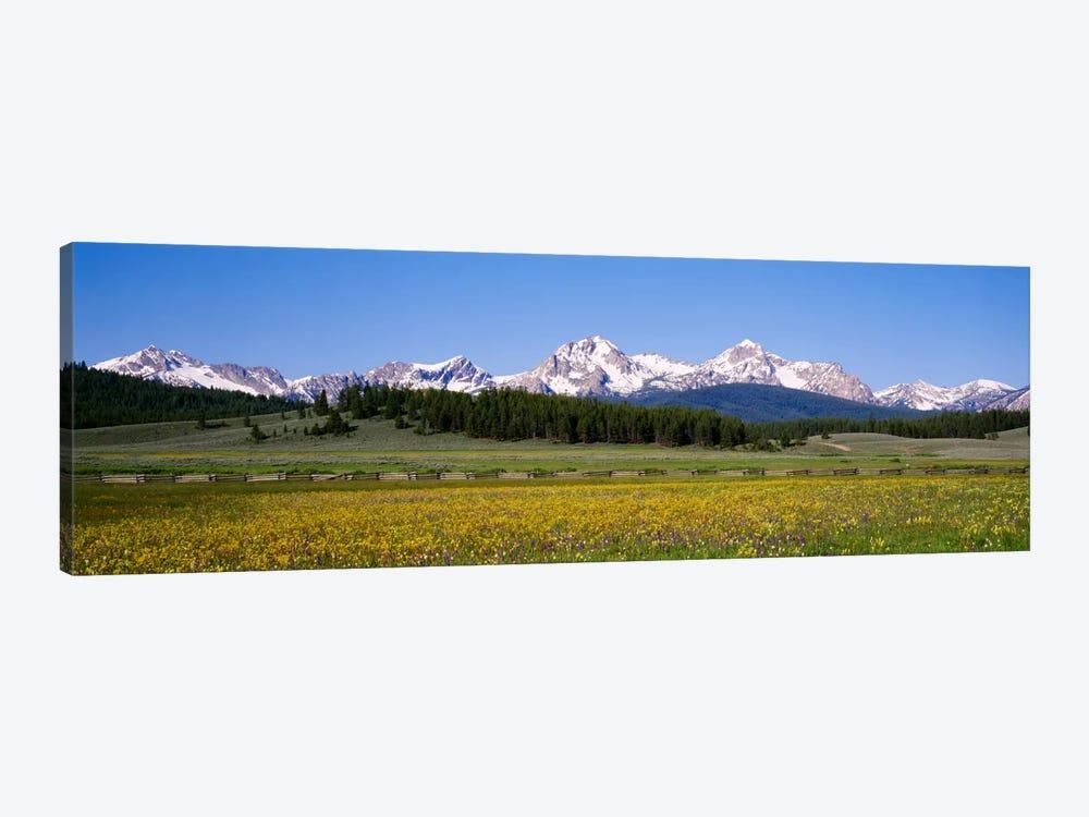 Sawtooth Range, Sawtooth Wilderness, Sawtooth National Recreation Area, Idaho, USA by Panoramic Images 1-piece Canvas Artwork