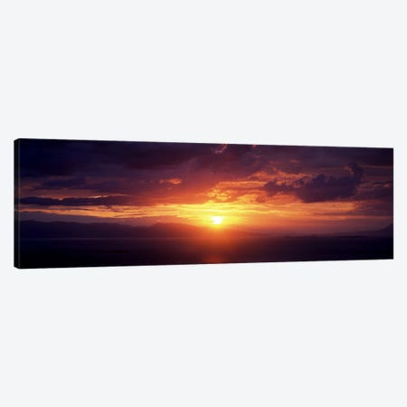 Sunset over the seaAegina, Saronic Gulf Islands, Attica, Greece Canvas Print #PIM7130} by Panoramic Images Canvas Art Print