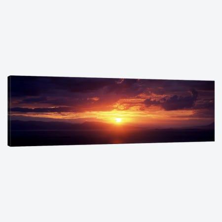 Sunset over the seaAegina, Saronic Gulf Islands, Attica, Greece Canvas Print #PIM7130} by Panoramic Images Canvas Art Print