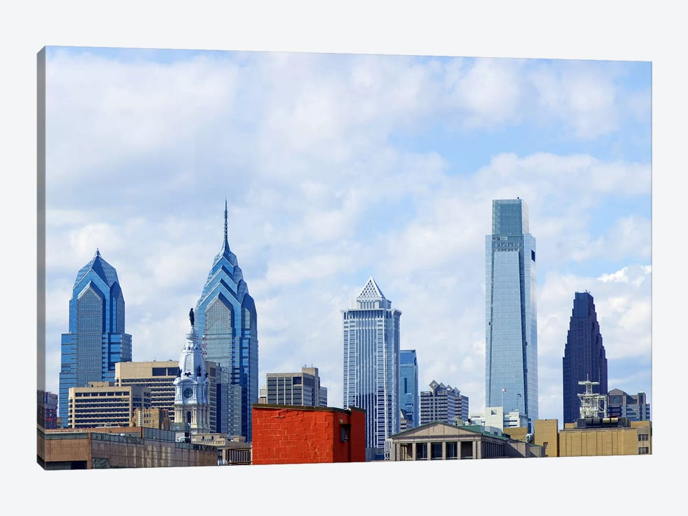Buildings in a city, Comcast Center, Center City, Philadelphia, Philadelphia County, Pennsylvania, USA by Panoramic Images 1-piece Canvas Artwork