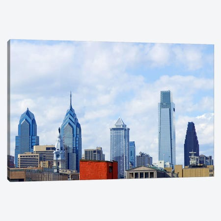 Buildings in a city, Comcast Center, Center City, Philadelphia, Philadelphia County, Pennsylvania, USA Canvas Print #PIM7134} by Panoramic Images Canvas Artwork