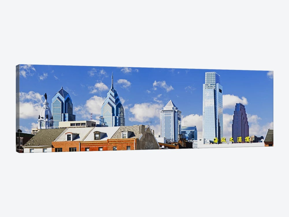 Buildings in a cityChinatown Area, Comcast Center, Center City, Philadelphia, Philadelphia County, Pennsylvania, USA by Panoramic Images 1-piece Canvas Art Print