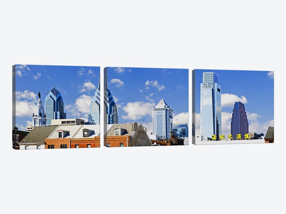 Buildings in a cityChinatown Area, Comcast Center, Center City, Philadelphia, Philadelphia County, Pennsylvania, USA by Panoramic Images 3-piece Canvas Print