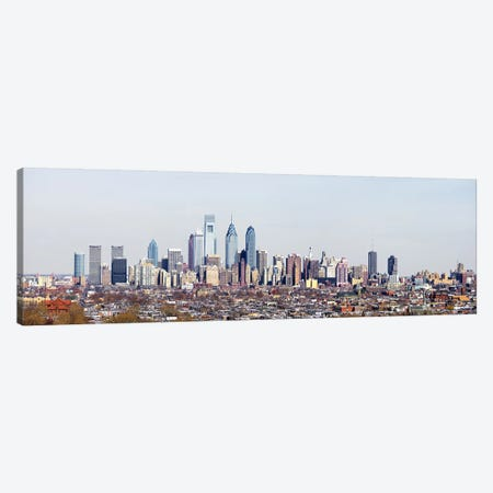 Buildings in a cityComcast Center, City Hall, William Penn Statue, Philadelphia, Philadelphia County, Pennsylvania, USA Canvas Print #PIM7136} by Panoramic Images Canvas Art