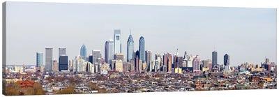 Buildings in a cityComcast Center, City Hall, William Penn Statue, Philadelphia, Philadelphia County, Pennsylvania, USA Canvas Print #PIM7136
